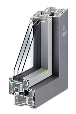 Aluminium-Kunststoff-Fenster AKF 714 S