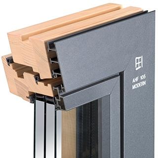 Holz-Aluminium-Fenster AHF 105 Modern
