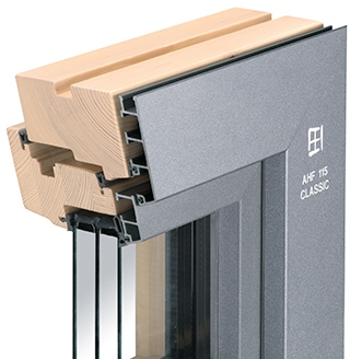 Holz-Aluminium-Fenster AHF 115 Classic