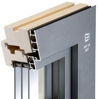 Holz-Aluminium-Fenster AHF 95 Art