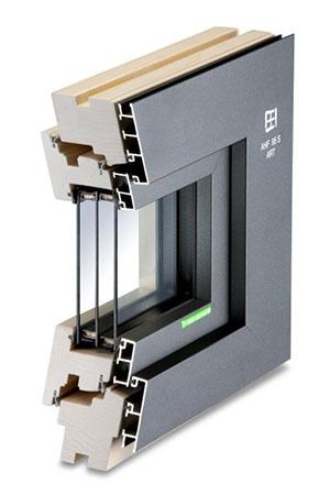 Holz-Aluminium-Fenster AHF 95 S Art