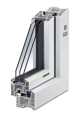 Kunststoff-Fenster KF 714 S
